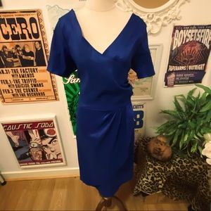 Sealed with a Kiss (SWAK) Blue Wiggle Dress 2XL